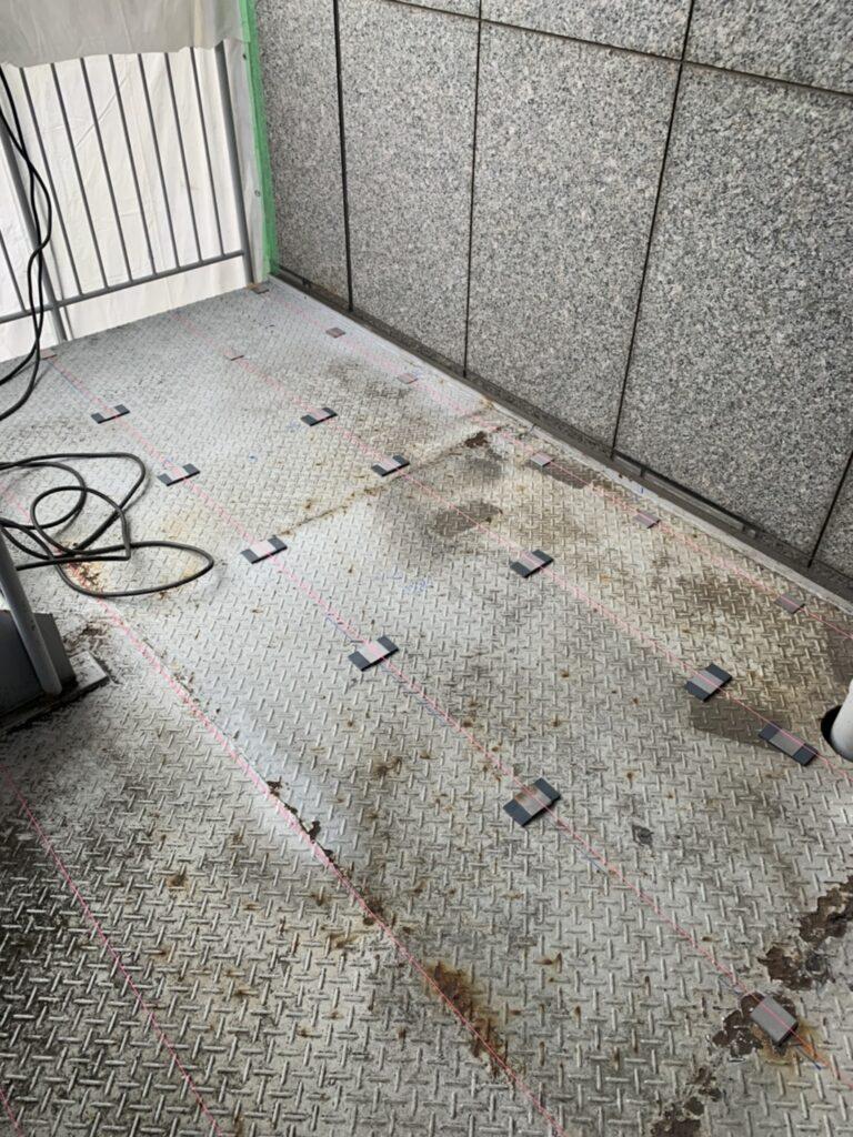 名古屋市の商社ビル 階段の踊り場補習工事